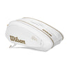 Singapore Wilson Federer DNA 12 Pack Bag, White/Gold
