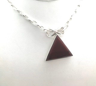 Red Pyramid Pendant Necklace - Medium