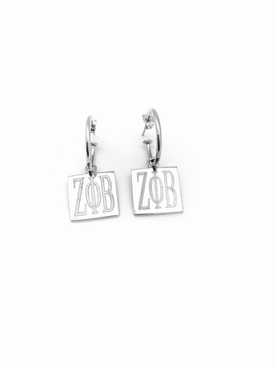 New! Square Hoop Earrings - ZPB