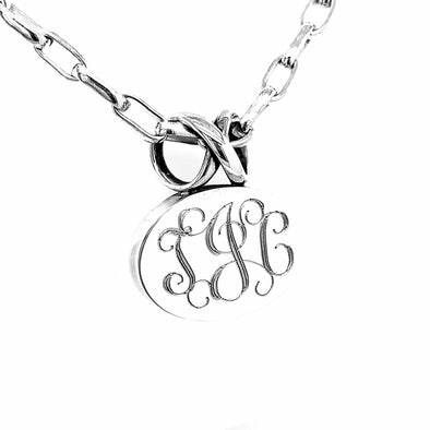 Oval Infinity Necklace