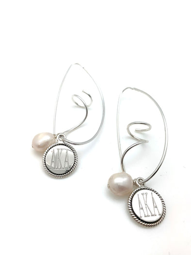 AKA Freshwater Pearl Swirl Earrings