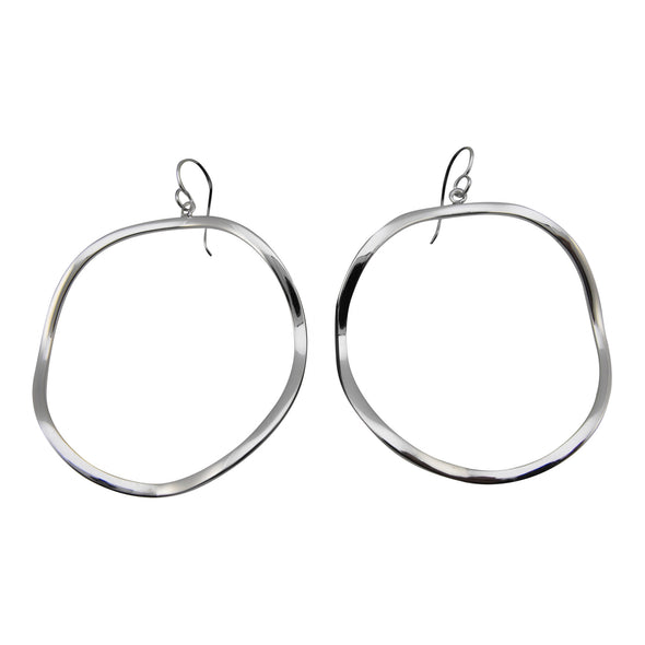 Wavy Circle Earrings