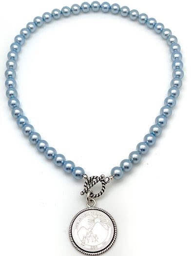 Jack and Jill Blue Necklace