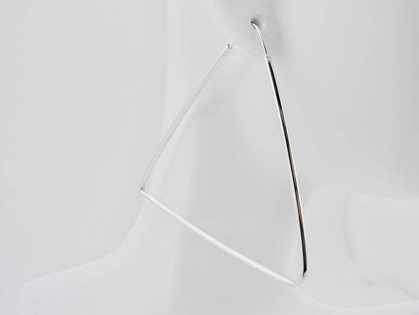 Pyramid Hoop Earrings-Large