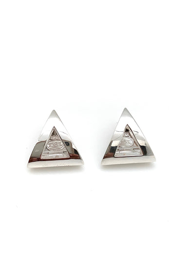 NEW!  Pyramid Huggie Earrings