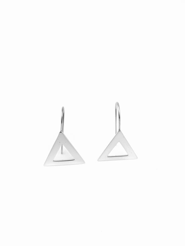 New! Small Pyramid Earrings -Fish hook