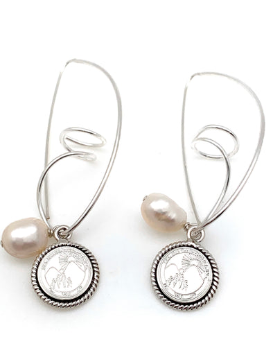 Jack and Jill Pearl Swirl Earrings