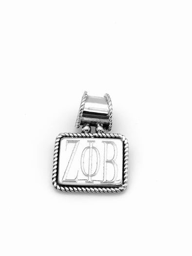 ZPB Braided Trim Rectangle Pendant