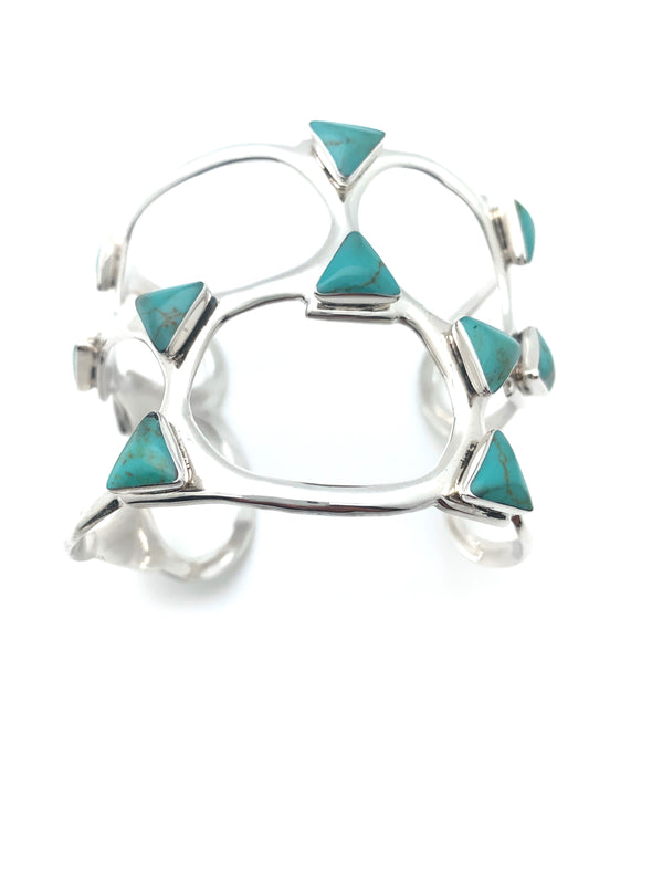 Turquoise Triangle Cuff