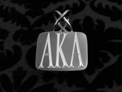 AKA Pendant - Alpha Kappa Alpha - The Sterling Link