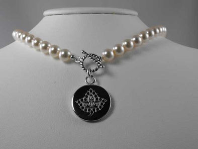 AKA Pearl Necklace-Twenty Pearls - Stone - The Sterling Link