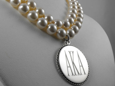 AKA Double Strand Necklace - Stone - The Sterling Link