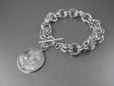 AKA Double Link Bracelet - Shield - Alpha Kappa Alpha - The Sterling Link