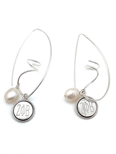 ZPB Freshwater Pearl Swirl Earrings