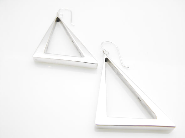 Slanted Pyramid  Earrings