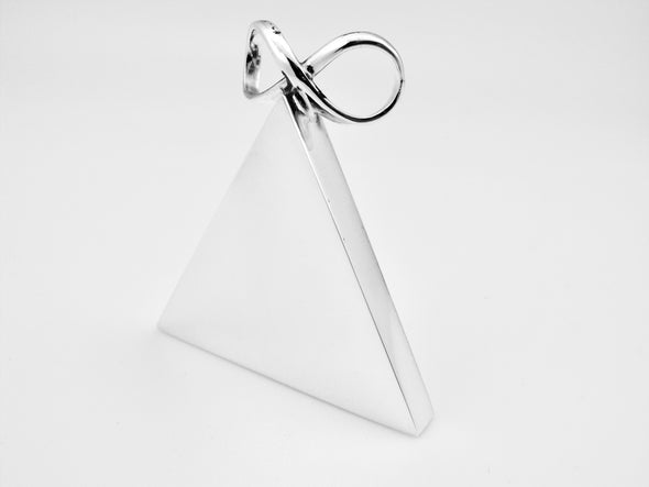 Sterling Silver Pyramid Pendant - Large