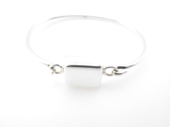 Sterling Silver Square Top Bangle