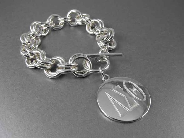 Delta Sigma Theta Double Link Bracelet - Top Level Category - The Sterling Link