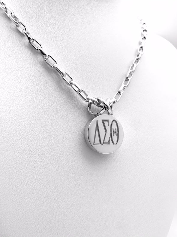 DST Round Infinity Pendant Necklace