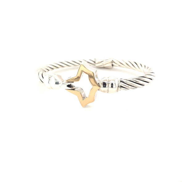 New! 14K Gold Top Ivy Leaf Cable Bracelet