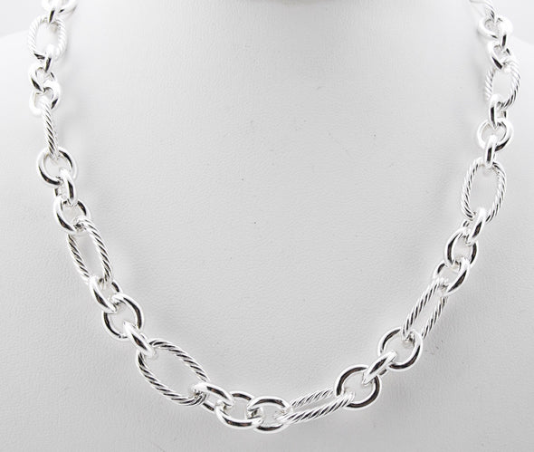 Cable Link Necklace