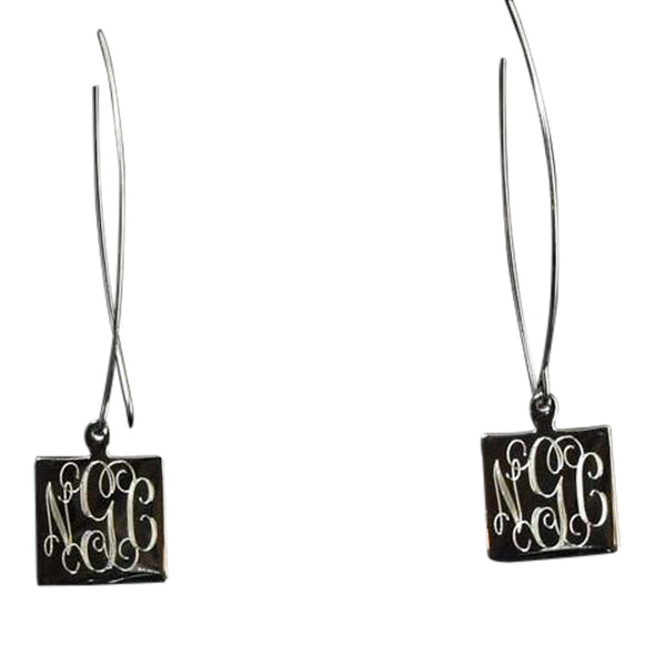 Monogram Thread Earrings