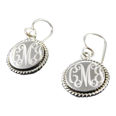 Monogram Braided Earrings