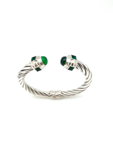 New! Emerald Cable Bracelet