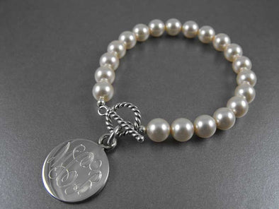 The Links Pearl Bracelet - Round - The Links, Inc. - The Sterling Link