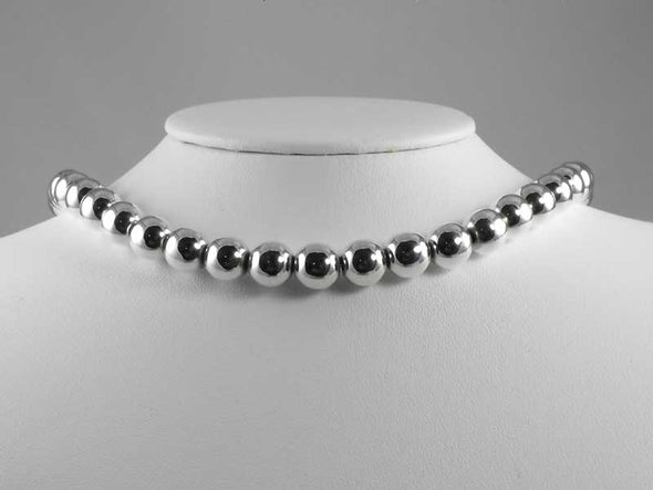 8mm Sterling Silver Bead Necklace - What's New - The Sterling Link