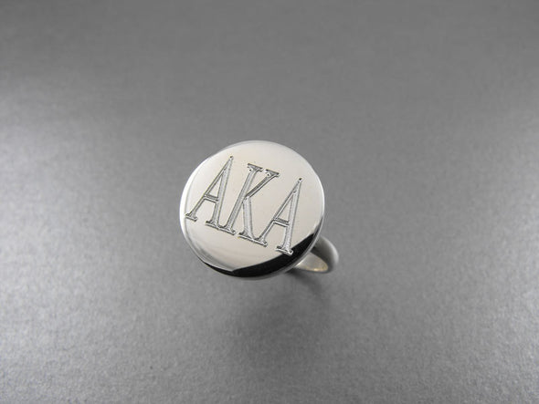 Round Monogram RIng - Silver - The Sterling Link