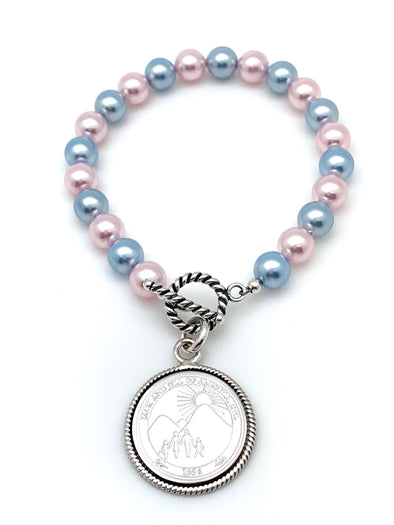 Pink and Blue Jack and Jill Bracelet