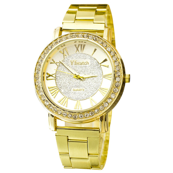 Quartz Classic Round Men Crystal Watch