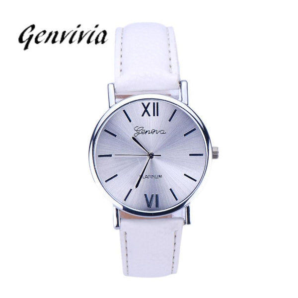 Fashion Analog Quartz Wristwatch GE Women Watch 2017 Fashion Leather Analog Quartz WristWatch