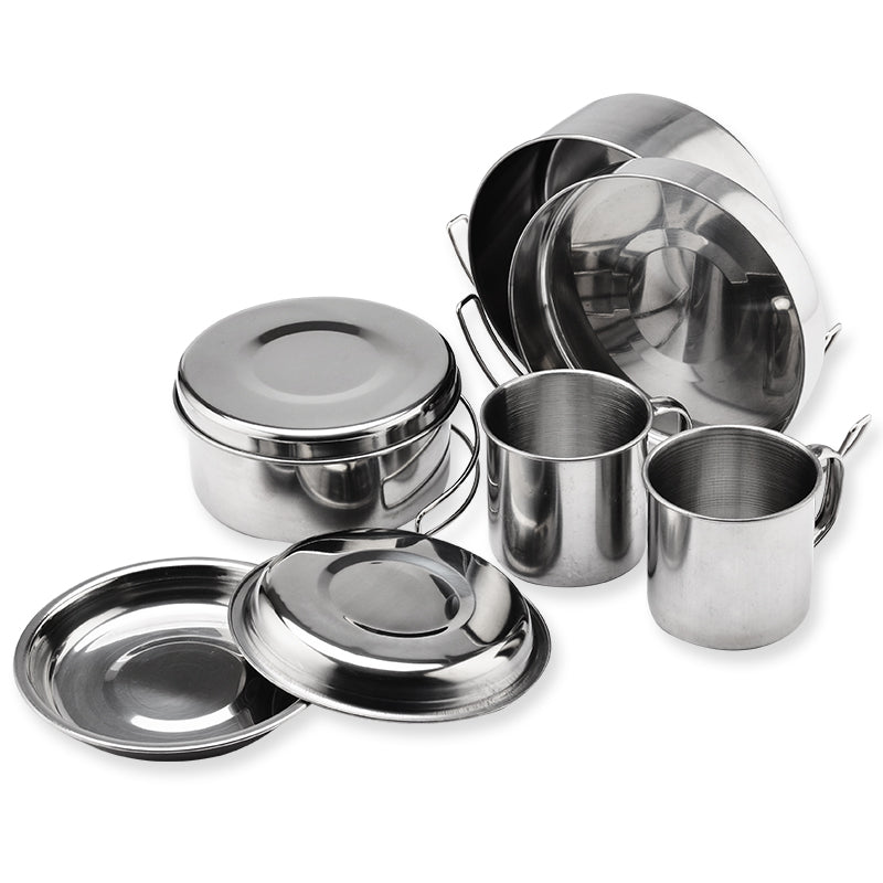 Outdoor Kitchen Stainless Steel Portable Camping Kitchen Set