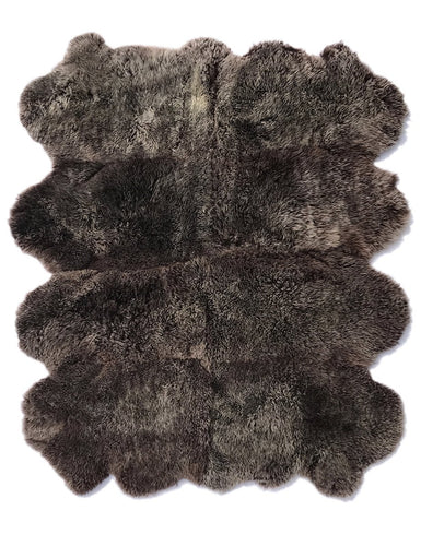 8-Hide Patagonian Sheepskin in Raccoon