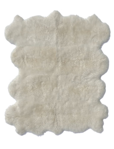8-Hide Patagonian Sheepskin in Natural Ivory