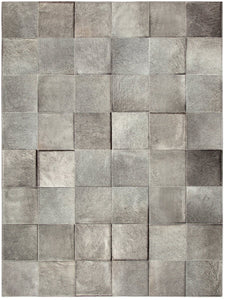 Basico Heather Grey Cowhide Rug