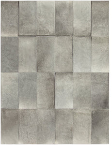 Mies Heather Grey Cowhide Rug