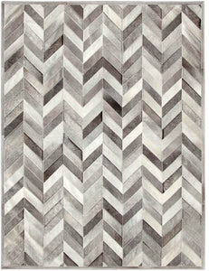 Yves Heather Grey Cowhide Rug