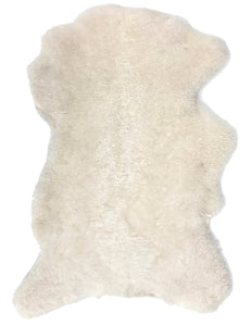 Shearling Sheepskin Hide in Natural Ivory