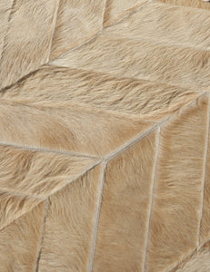 Yves Wheat Cowhide Rug