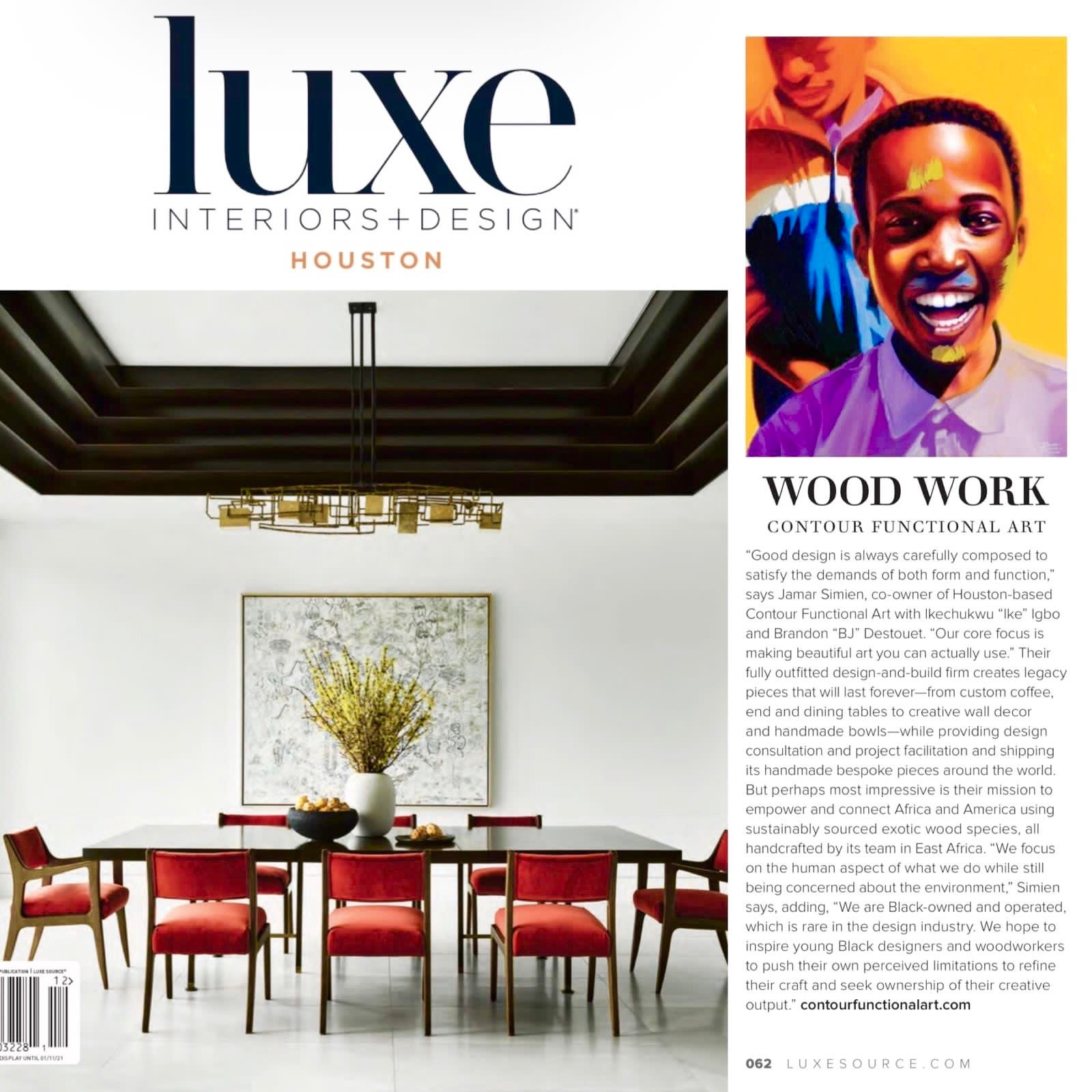 LUXE Design Magazine Interview with Jamar Simien