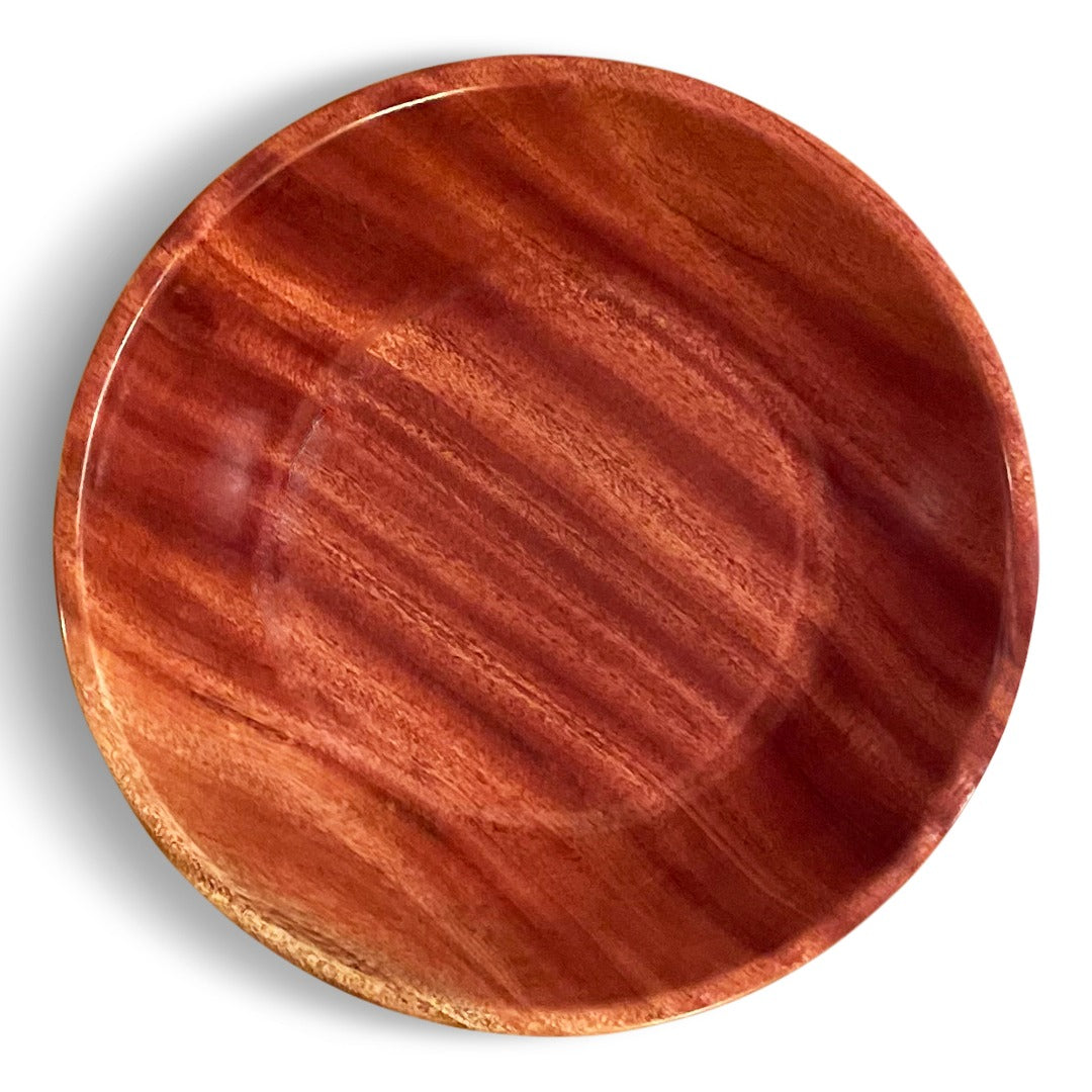 Handcrafted African Mahogany Large Bowl