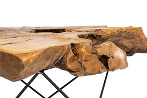 Live Edge Wood Coffee Table - Mid Century Modern - Handcrafted Furniture