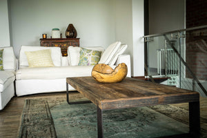 Reclaimed Wood Table - Mid Century Modern - Handcrafted Coffee Table