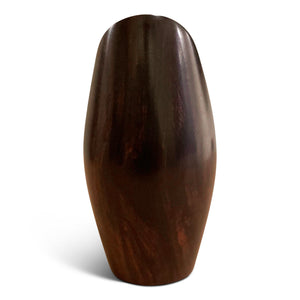 Handcrafted African Blackwood Wooden Vase - Home Decor
