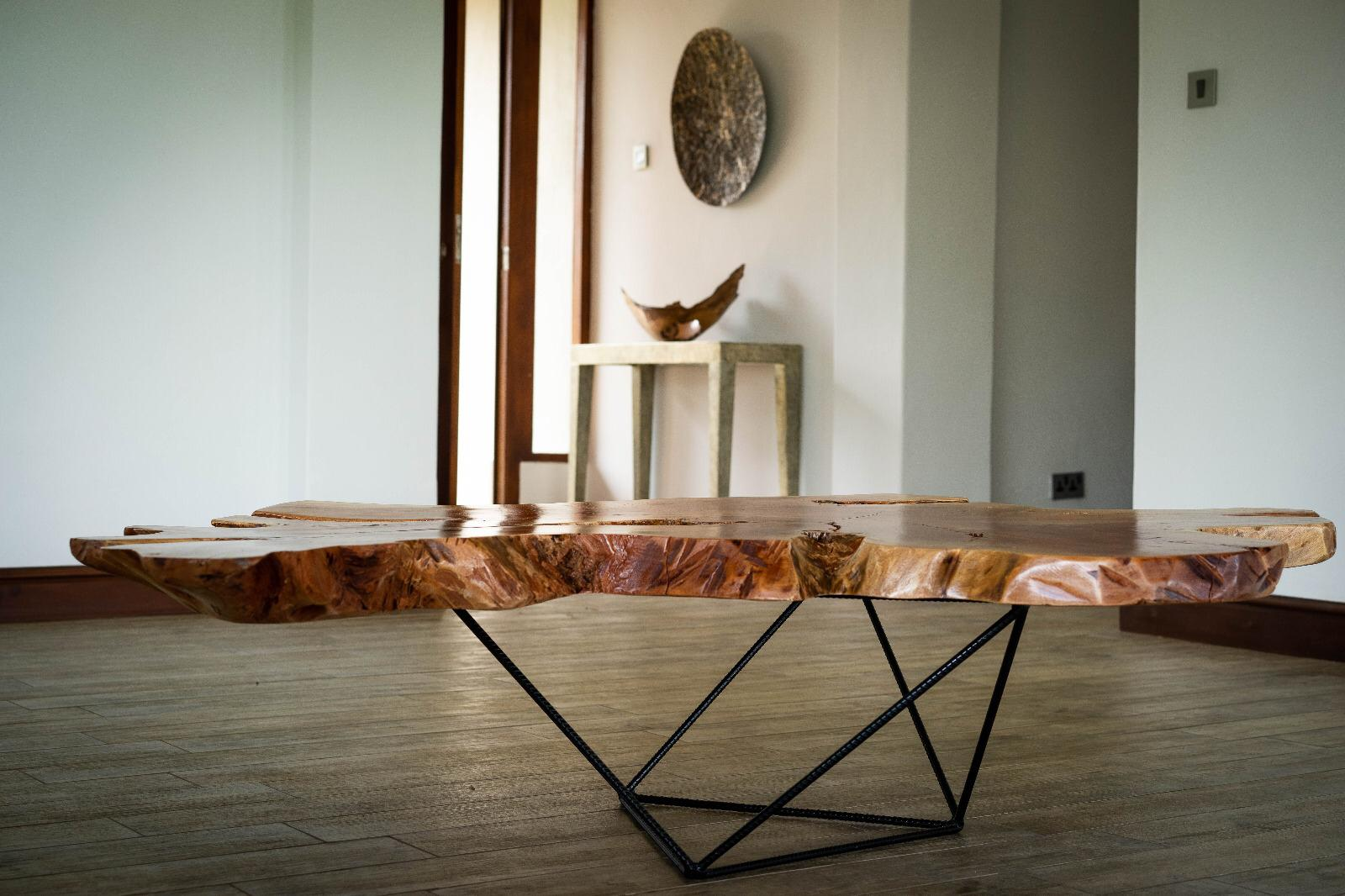 Mid Modern Century African Mahogany Coffee Table Contour Functional Art [ 1066 x 1600 Pixel ]