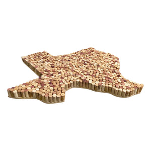 Handcrafted Texas Wine Cork Map