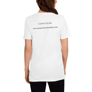 Contour logo with name- Short-Sleeve Unisex T-Shirt